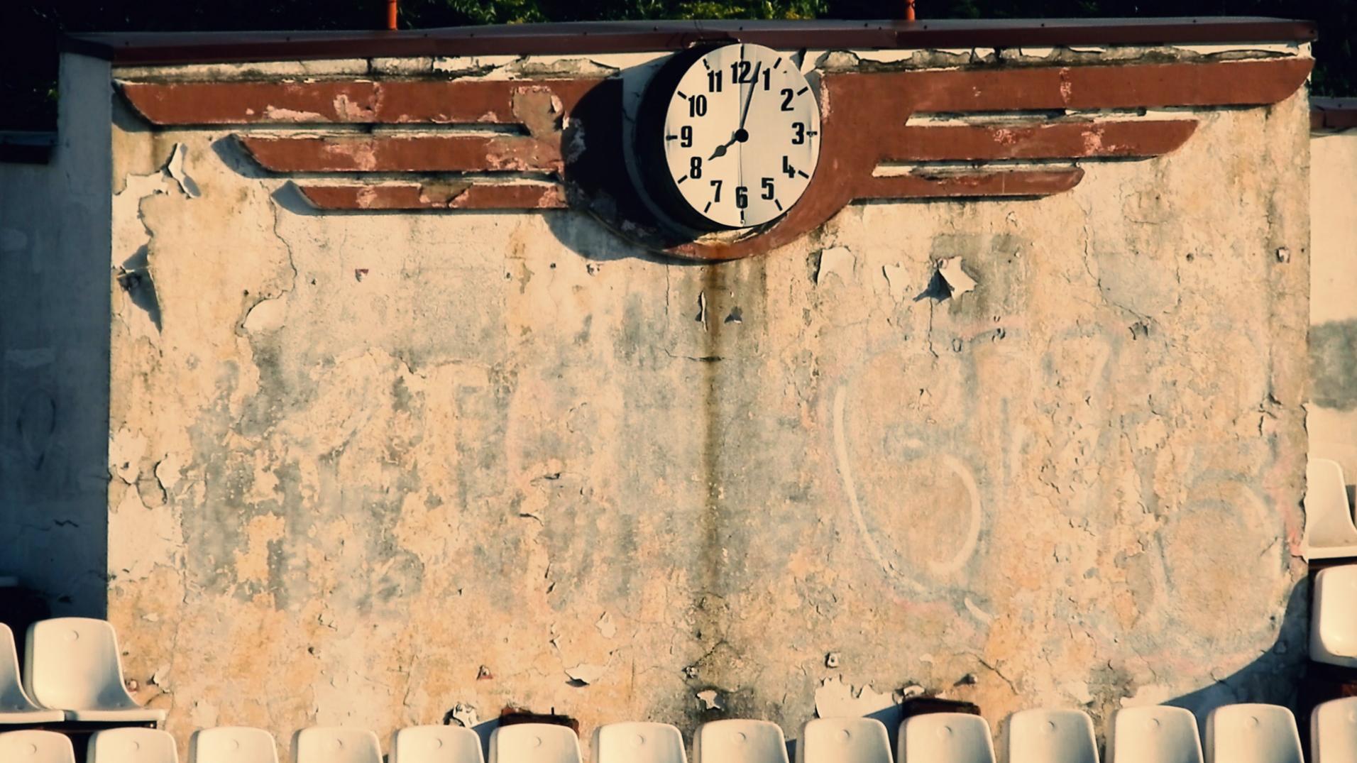 Bătrânul ceas de la peluza I a Giuleștiului. FOTO: Recorder