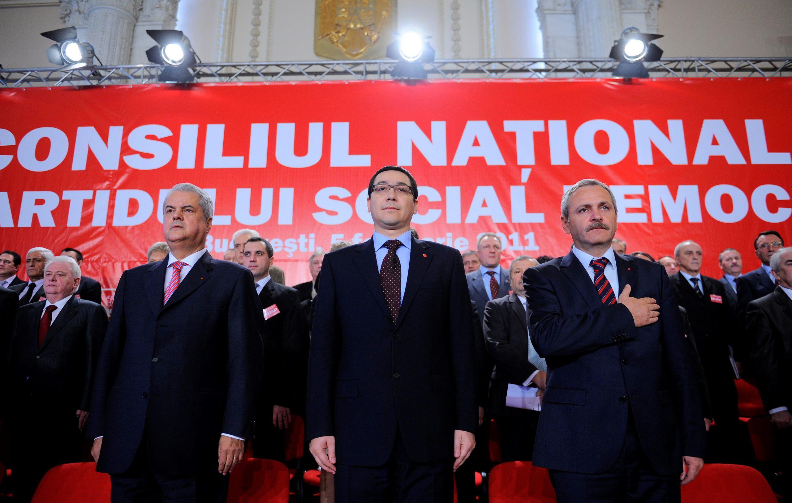 PSD-ul, pe scurt: Adrian Nastase, Victor Ponta si Liviu Dragnea. FOTO: Răzvan Chiriță / Mediafaxfoto