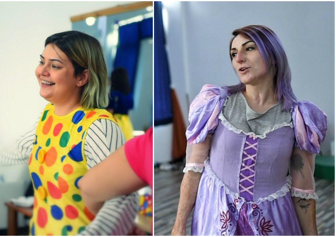 """Alice Tiaru și Adina Apostol într-o zi de """"joacă la greu"""", în tabăra MagiCamp. FOTO: Recorder"""