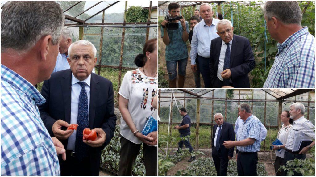 Petre Daea, ministrul Agriculturii, în vizită la Stațiunea de Cercetare-Dezvoltare pentru Legumicultură Buzău.