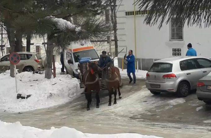HARFELE SĂPTĂMÂNII. Cea mai fidelă imagine a noastră în anul Centenarului: ambulanță trasă de o căruță cu doi cai