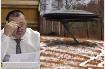 """Test de discernământ. Deputatul Cătălin Rădulescu a distribuit filmulețul cu aterizarea unui OZN la Târgoviște: """"Mi se pare verosimil"""""""
