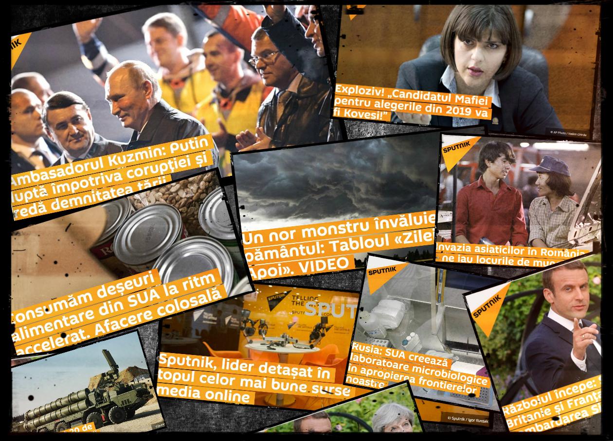 Toate aceste articole de la Sputnik au fost preluate de site-ul usd24.ro, un portal finanțat de Guvernul României.