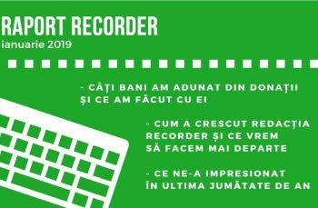 Recorder – raport în fața cititorilor