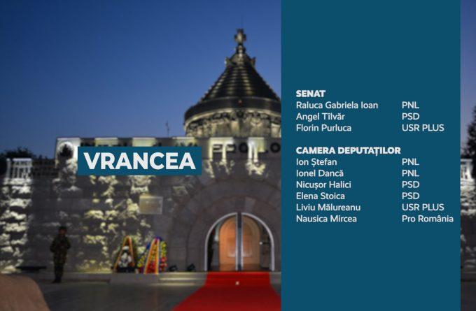 Candidații județului Vrancea