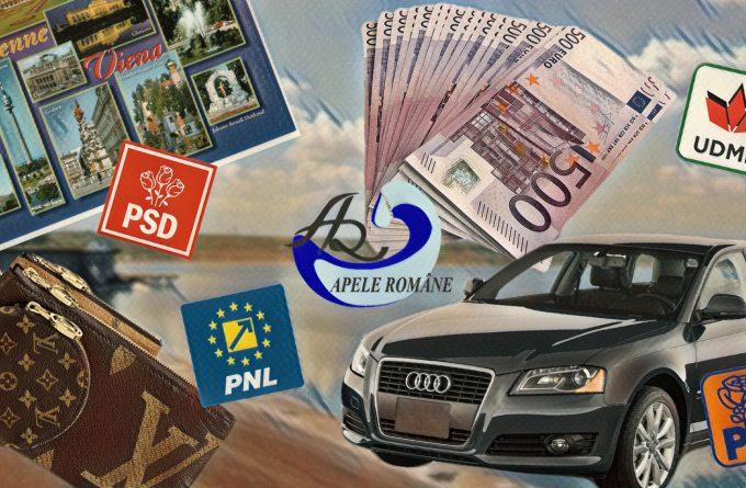 Miza numirilor politice de la Apele Române: șpăgi de milioane de euro, genți Vuitton și mașini de lux